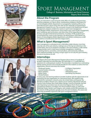Sport Management - Slippery Rock University
