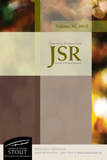 2012 Journal of Student Research - University of Wisconsin-Stout