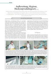 Aufbereitung, Hygiene, Medizinproduktegesetz - ZWP online
