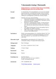 Voksenundervisning i matematik - EH-Mat