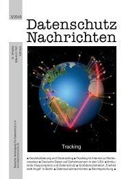 Heft [PDF] - Deutsche Vereinigung für Datenschutz e.V.