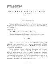 nr 4/2009 - Polskie Towarzystwo Mechaniki Teoretycznej i Stosowanej