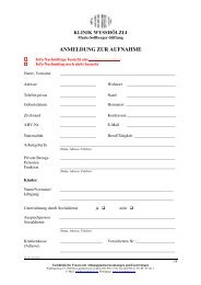 Fo 102 Anmeldungsformular _mit Logo - Klinik Wysshölzli