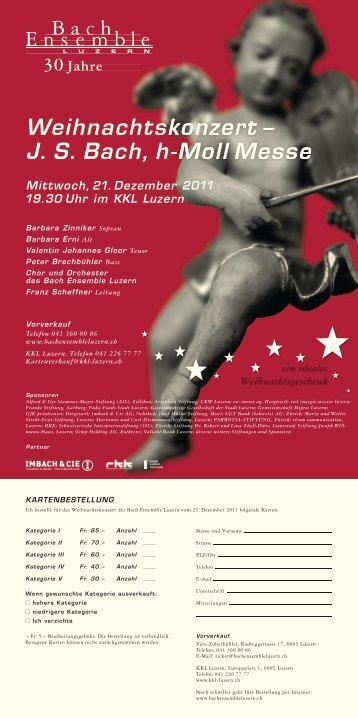 Flyer zum Weitersenden - Bach Ensemble Luzern