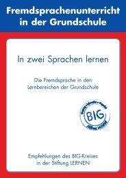 Fremdsprachenunterricht in der Grundschule ... - Stiftung LERNEN