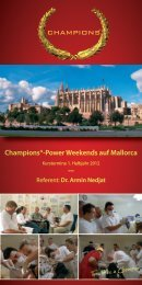 Champions®-Power Weekends auf Mallorca - Champions-Implants