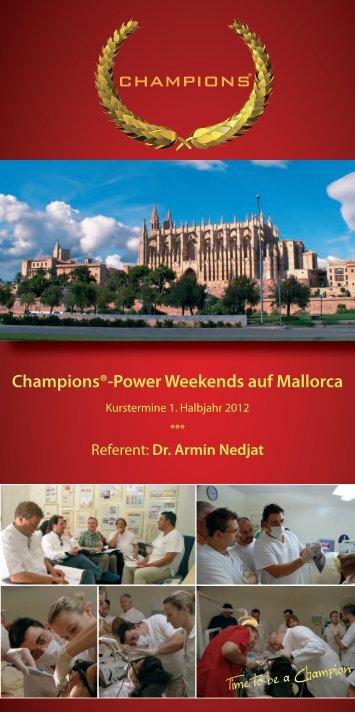 Champions®-Power Weekends auf Mallorca - Champions-Implants
