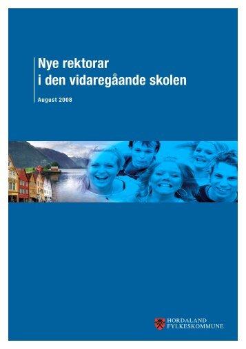 Nye rektorar i den vidaregåande skolen - Hordaland fylkeskommune