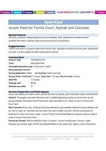 SportCoat - Tambour Paints