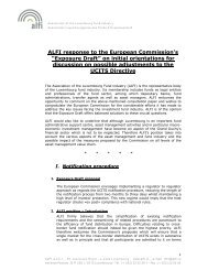 "ALFI response to the European Commission's ""Exposure Draft"" on ..."