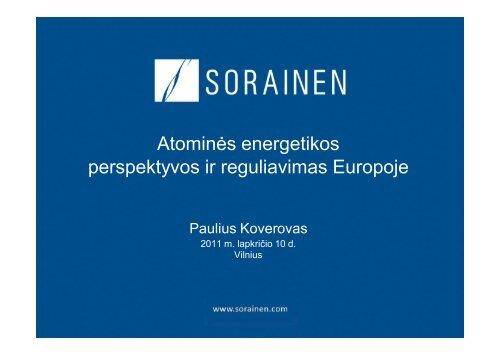 Atominės energetikos perspektyvos ir reguliavimas Europoje
