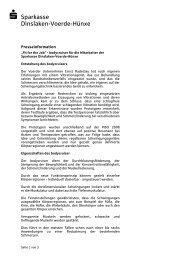 Fit for the Job - Sparkasse Dinslaken-Voerde-Hünxe