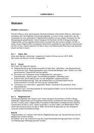 Statuten Verein «reformiert.» - reformiert.info
