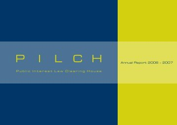 Annual Report 2006 – 2007 - pilch
