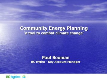 Sustainable Community Energy Planning (for non-engineers)