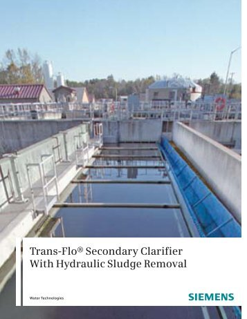 Trans-Flo® Secondary Clarifier With Hydraulic Sludge Removal