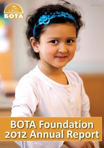 BOTA Foundation 2012 Annual Report - IREX