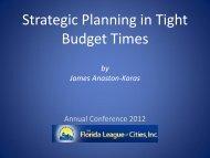 Presentation - Florida League of Cities
