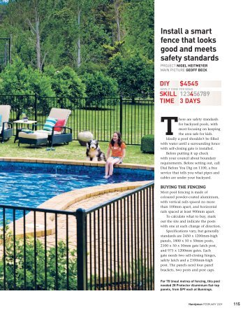 Install the pool fence - Media