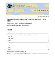 a chronology of major developments in policy and law - Australian ...