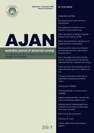Download Complete Issue - Australian Journal of Advanced Nursing