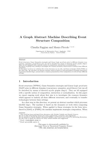 A Graph Abstract Machine Describing Event Structure ... - PPS