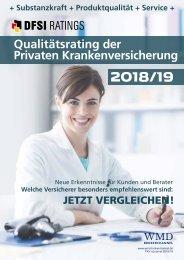 Qualitätsrating der Privaten Krankenversicherung 2018/19