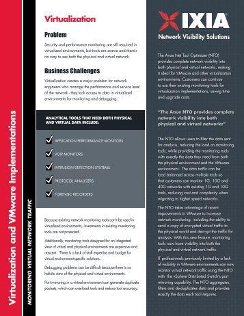 Virtualization Solutions Brief - Ixia