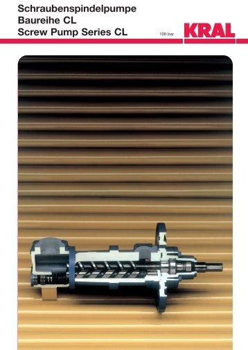 Schraubenspindelpumpe Baureihe CL Screw Pump Series CL