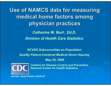 Catharine Burt, Ph.D. - National Committee on Vital and Health ...