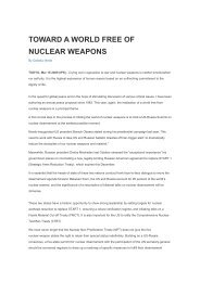toward a world free of nuclear weapons - People's Decade for ...