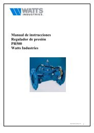 Manual de instrucciones Regulador de presión ... - Watts Industries