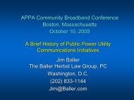 A Brief History of Public Power Utility Communications Initiatives