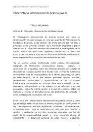 Observatorio Internacional de Justicia Juvenil