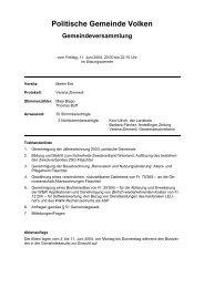 Protokoll vom 11.06.2004 - Gemeinde Volken