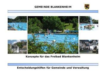 GEMEINDE BLANKENHEIM Konzepte für das Freibad Blankenheim ...