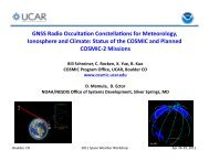 GNSS Radio Occulation Constellations for Meteorology, Ionosphere ...