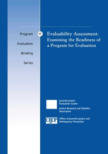 Evaluability Assessment - Justice Research and Statistics Association