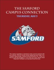 CAMPUS CONNECTION - Samford University