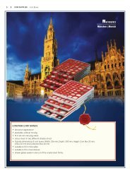 Lindner 4810 height: 10cm depth: 6cm Single module for EXPO collection and presentation system width: 40cm