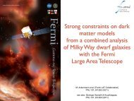 Strong constraints on dark matter models from a combined analysis ...