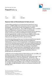 Rostocker Hafen ist Wirtschaftsmotor für Stadt und Land