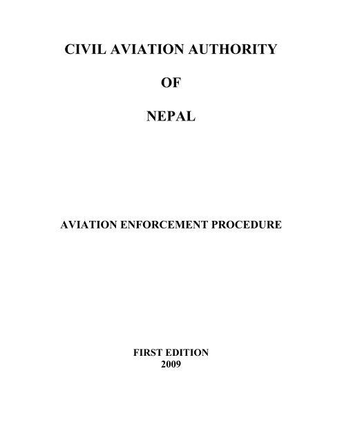Aviation Enforcement Procedure Civil Aviation Authority Of