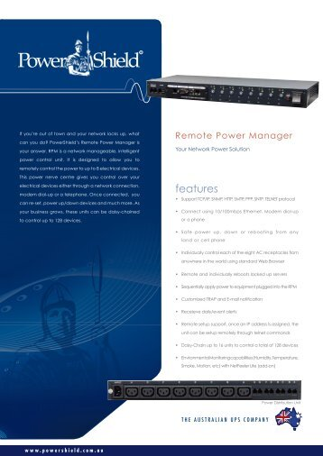PowerShield Remote Power Manager Brochure