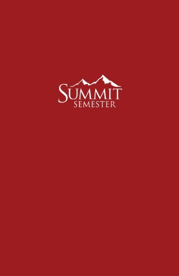 Nestled In The Rocky Mountains - Summit Ministries