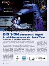 BIG SIGN produziert 3D-Objekte in Leichtbauweise vor den Toren ...