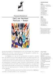 Presseinformation Carl van Vechten Parties — Roman - Applaus