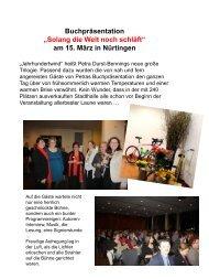 """""""Solang die Welt noch schläft"""" am 15. März in Nürtingen"""