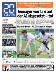 Zürich Teenager von Taxi auf der A1 abgesetzt – tot - 20 Minuten