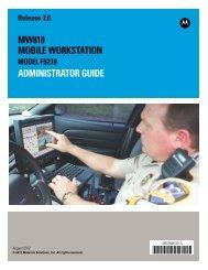 MW810 Mobile Workstation: Administrator Guide - Motorola Solutions
